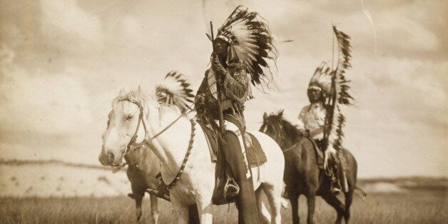 UNITED STATES - CIRCA 1905: Three Sioux Chiefs (Photo by Edward S Curtis/Buyenlarge/Getty