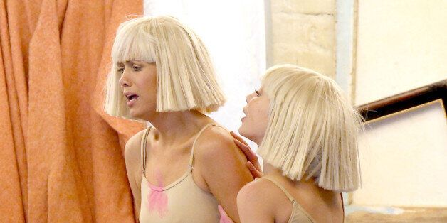 LOS ANGELES, CA - FEBRUARY 08: Actress Kristen Wiig (L), dancer Maddie Ziegler and recording artist Sia...