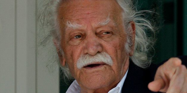 Greek WWII hero Manolis Glezos, who as an 18-year-old hauled down the Nazi flag from the Acropolis a...
