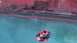 Βίντεο από την επιχείρηση διάσωσης στο φορτηγό πλοίο «Good Faith» στην