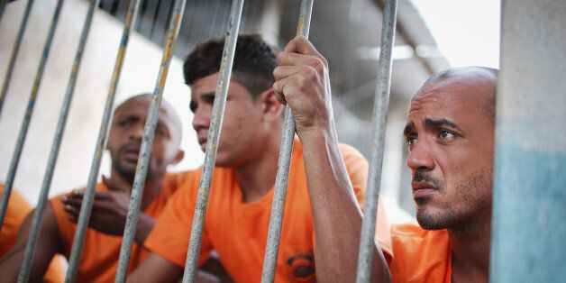 SAO LUIS, BRAZIL - JANUARY 27: Inmates gather in the Pedrinhas Prison Complex, the largest penitentiary...
