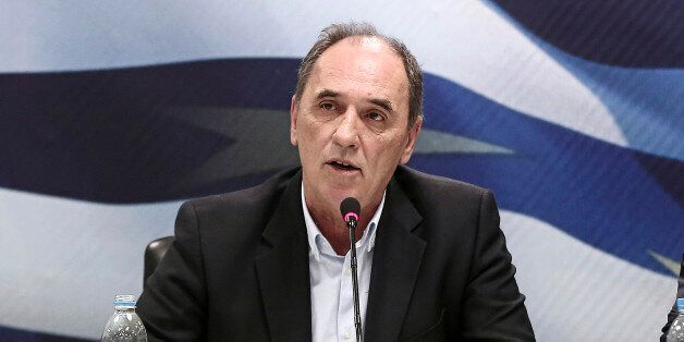 George Stathakis, Greece's incoming minister for economy, shipping, tourism and infrastructure, speaks...