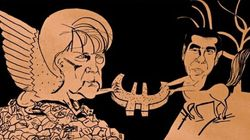 Guardian: Η Σφίγγα Μέρκελ παλεύει με τον Κένταυρο Τσίπρα για το