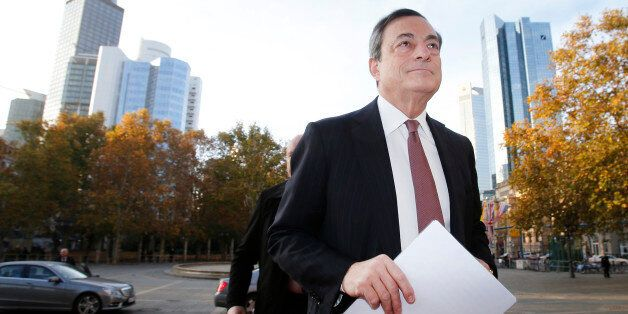 The President of the European Central Bank Mario Draghi is on his way to the European Banking Congress...
