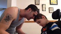Η αντίδραση του 8χρονου με ειδικές ανάγκες στον ραπάρισμα του μπαμπά του θα σας αφήσει άφωνους
