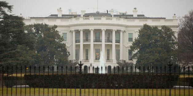 The South Lawn of the White House in Washington is seen Monday, Jan. 26, 2015. A device, possibly an...