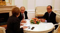 Άνευ συμφωνίας οι συνομιλίες Μέρκελ-Ολάντ-Πούτιν για την