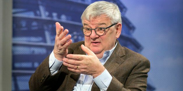 BERLIN, GERMANY - OCTOBER 04: An interview with Green Party member, Joschka Fischer, pictured on October...