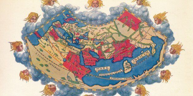 Ptolemy's Map of the World cA.D 150. The Ptolemy world map is a map of the known world to Hellenistic...