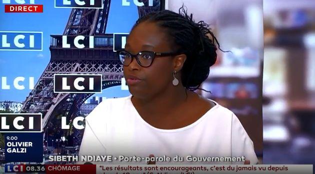 Sibeth Ndiaye sur le plateau de LCI lundi 23