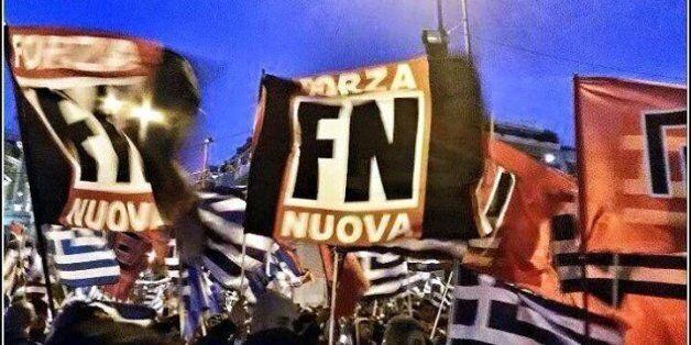 Ιταλοί νεοφασίστες τηςForzaNuovaστην Αθήνα για την επέτειο των