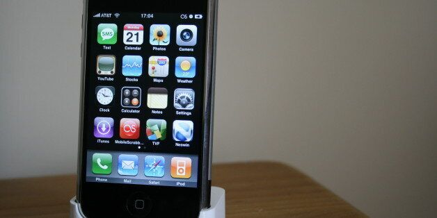 The iPhone. No, I don't live in the US, and I don't use AT&T, but it's nice to show off. You can change...