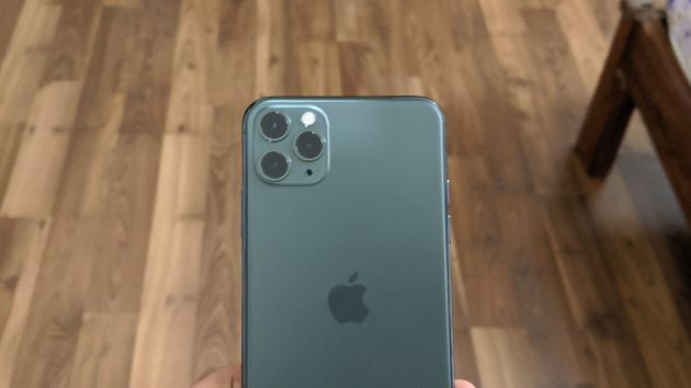 The back face of the iPhone 11 Pro