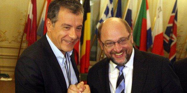 Προτιμότερη μια συνεργασία ΣΥΡΙΖΑ - Ποτάμι, δήλωσε ο Σουλτς στη συνάντηση με τον