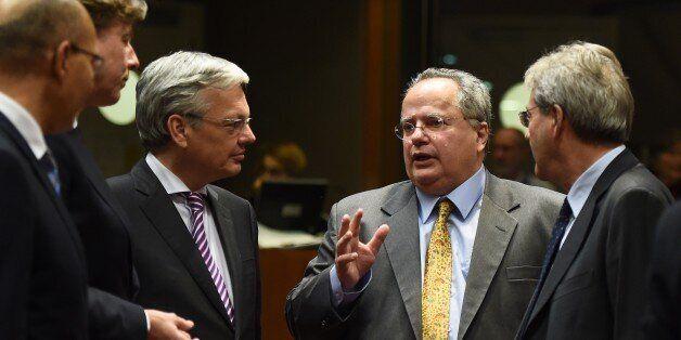 Ο νέος υπουργός Εξωτερικών, Νίκος Κοτζιάς στην έκτακτη συνεδρίαση του Συμβουλίου των ΥΠΕΞ στις