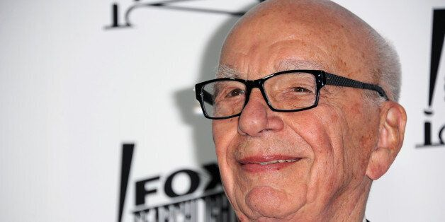 Rupert Murdoch arrives at the Twentieth Century Fox & Fox Searchlight Pictures Oscar Party at the LURE...