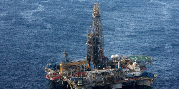In this photo provided by the Cyprus Press and Information office, the Noble Energy company's offshore...