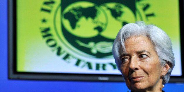 DUBLIN, IRELAND - JANUARY 19: Christine Lagarde , Managing Director of the IMF (International Monetary...