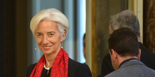 International Monetary Fund (IMF) Managing Director Christine Lagarde arrives for a meeting with Italian...
