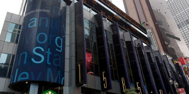 This Aug. 12, 2014 photo shows the headquarters of Morgan Stanley, near Times Square, in New York. Morgan...