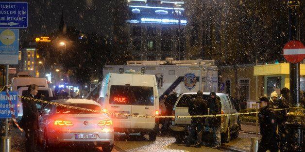 Φωτογραφία από το σημείο της επίθεσης αυτοκτονίας στην Κωνσταντινούπολη, 6 Ιανουαρίου