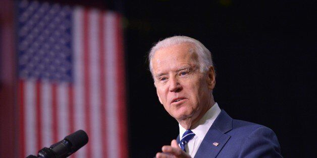 US Vice President Joe Biden speaks as he introduces US President Barack Obama at Pellissippi State Community...