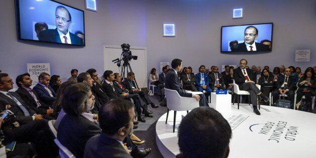 India's Finance Minister Arun Jaitley attends a session of the World Economic Forum (WEF) annual meeting...