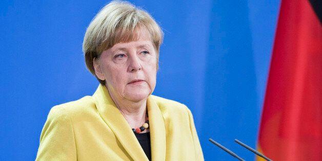 BERLIN, GERMANY - JANUARY 19: German Chancellor Angela Merkel and Ghana President John Dramani Mahama...