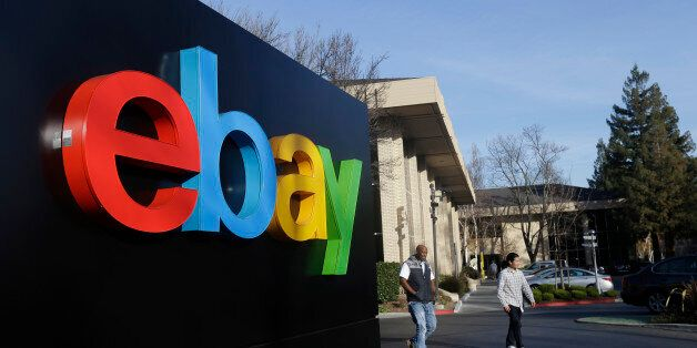 This Jan. 14, 2015 photo shows an exterior view of eBay headquarters in San Jose, Calif. EBay reports...