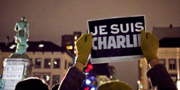 Rassemblement solidaire pour les attentat du 7 Janvier 2015 à la rédaction de