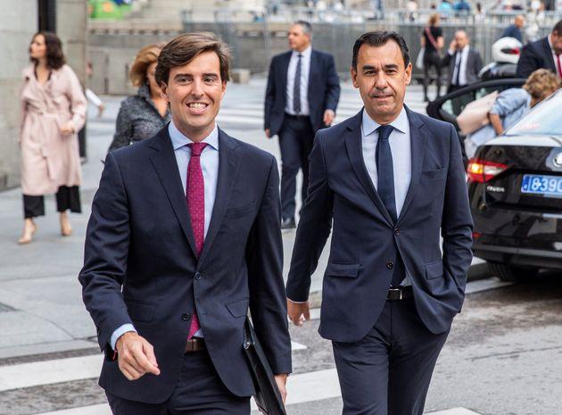 El vicesecretario de Comunicación del Partido Popular, Pablo Montesinos, junto a Fernando Martínez Maillo