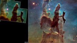 Συγκλονιστικές φωτογραφίες: Το Hubble «επιστρέφει» στις «Στήλες της Δημιουργίας» στο Νεφέλωμα του
