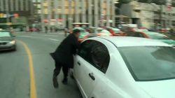 Les taxis manifestent contre Uber à Toronto