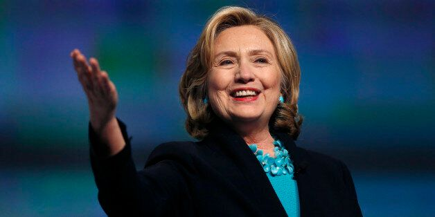 Former Secretary of State Hillary Rodham Clinton speaks at the Massachusetts Conference for Women in...