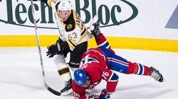 Les Bruins assomment le Canadien en troisième