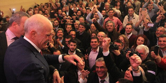 ATHENS, GREECE - JANUARY 3: Former Greek Prime Minister George Papandreou announces that he sets up a...
