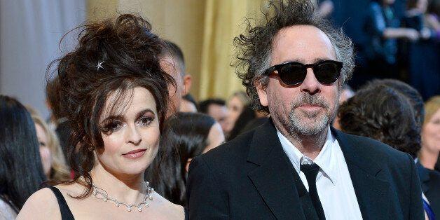 HOLLYWOOD, CA - FEBRUARY 24: Actress Helena Bonham Carter and director Tim Burton arrive at the Oscars...