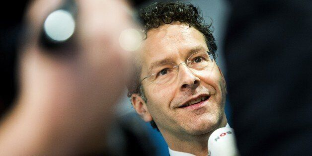 Eurogroup President and Dutch Finance Minister Jeroen Dijsselbloem reacts on the results of the comprehensive...