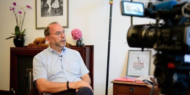 Professor Peter Piot, the Director of the London School of Hygiene and Tropical Medicine, speaks during...