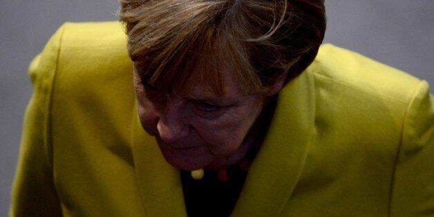 German Chancellor Angela Merkel attends a session of the Lower house of parliament Bundestag on November...