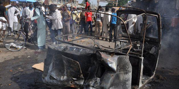 Φωτογρααφία αρχείου από βομβιστική επίθεση ισλαμιστών ανταρτών στη Νιγηρία στις αρχές Δεκεμβρίου