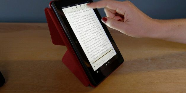 The 7-inch Amazon Kindle HDX, is shown on the optional