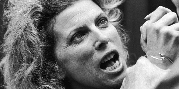 English actress Billie Whitelaw in 'The Greeks' a trilogy of plays adapted from the plays of Aristophanes...