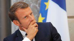 """""""Qu'ils aillent manifester en Pologne!"""", dit Macron aux jeunes qui défilent pour le"""