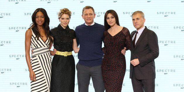 IVER HEATH, ENGLAND - DECEMBER 04: Naomie Harris, Lea Seydoux, Daniel Craig, Monica Bellucci and Christoph...