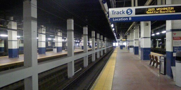 The underground Amtrak platform at Philadelphia's 30th Street