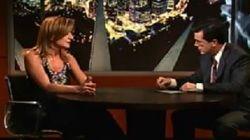 Τέλος εποχής για το Colbert Report. Η Arianna Huffington ανέβασε βίντεο από τις εμφανίσεις της στο