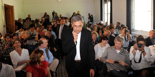 Orhan Pamuk, Turkish novelist and winner of the 2006 Nobel Prize in Literature, arrives for a press conference...