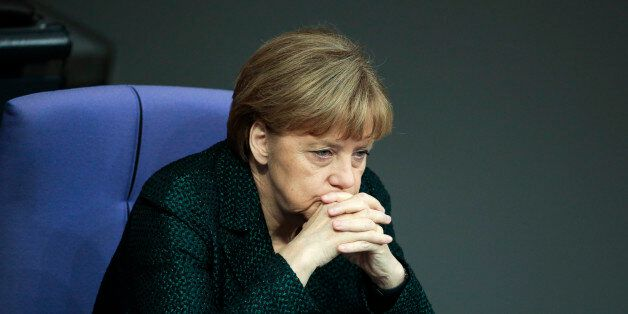 German Chancellor Angela Merkel attends the second day of a four days debate of a debt free national...