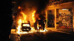 «Πειρατεία» λεωφορείου και φωτιές σε ΙΧ μετά την πορεία αλληλεγγύης στο